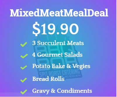 catering special mixed meat meal